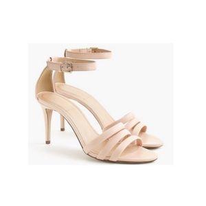 ✨JCREW✨Leather Ankle Strap Sandals